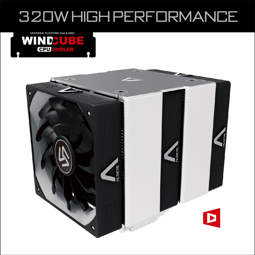 Alseye AB101M Wind Cube cpu cooler Intel&AMD cpu cooler with heatsink heatpipe