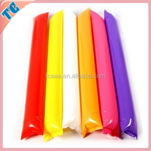 eco friendly manufacturer of promotional advertisement LED PE inflatable cheering stick/noise maker/thunder
