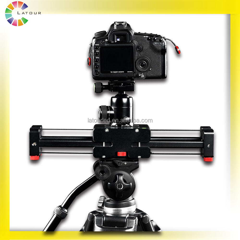 Manufacture professional top sale camera support accessories double distance video slider plus for DSLR