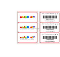 2014 creative prepaid paper voucher card