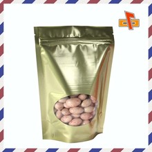 Standup pouch foil food bag with zipper specialized for candy and chocolate beans package
