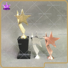 Noble custom design high quality metal star trophy with free logo