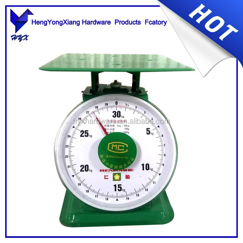 30KG mechanical spring dial kitchen weighing scale