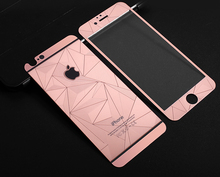 Wholesale cell phone accessories Full cover 3D diamond screen protector tempered glass for iphone 4