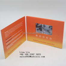 Hot sale Chinese factory video LCD greeting card invitation as a gift
