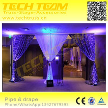 Telescopic drape support system, pipe and drape for wedding/event