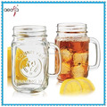 480ml hot selling glass mason jar cup with screw cap and handle
