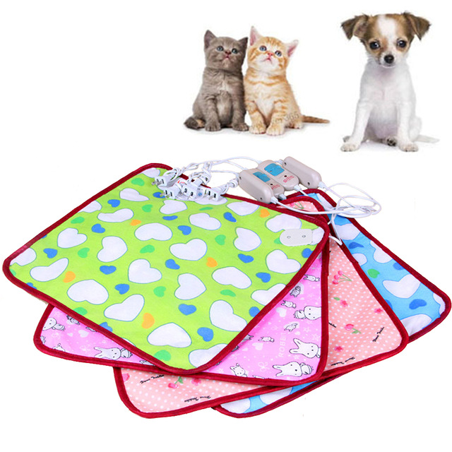 Dog Cat Bunny Heater Mat Blanket Bed 40*40cm Electric Warm Heating Pet Waterproof Pet Puppy Warm Kitten Heat Pad US Plug