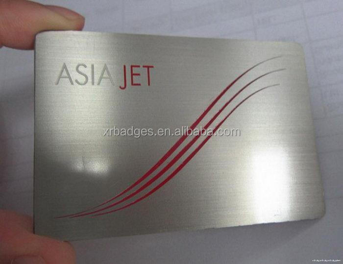 New style best sell aluminum metal business card
