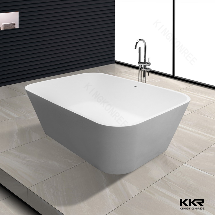 Best price soaking function freestanding resin acrylic solid surface bathtub