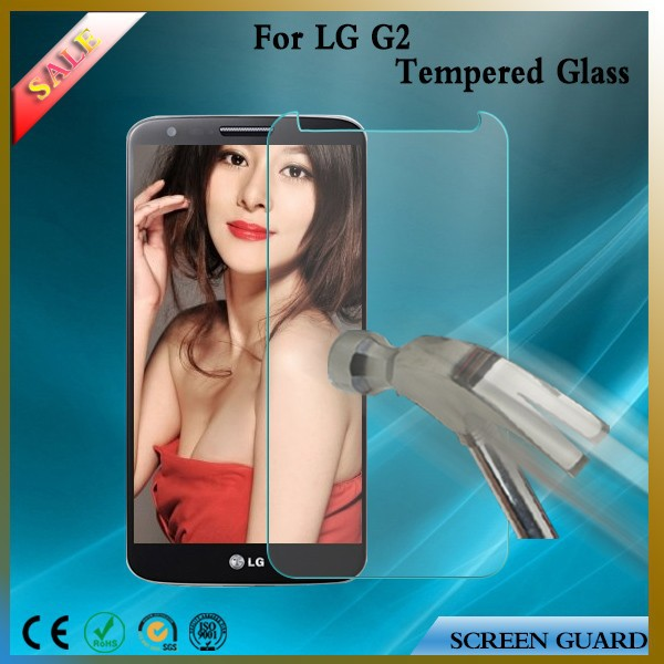 Invisible shield tempered glass screen protector for lg G2 toughened glass film 0.2mm,0.3mm cellphone accessories