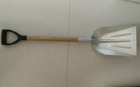 wooden handle aluminium snow shovel with china origin