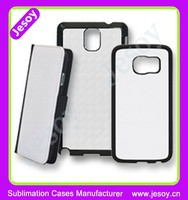 JESOY New Products 2 in 1 Cell Phone Cover Silicone Sublimazione 2D Protective Cases For Samsung Galaxy Note 2 3 4 5