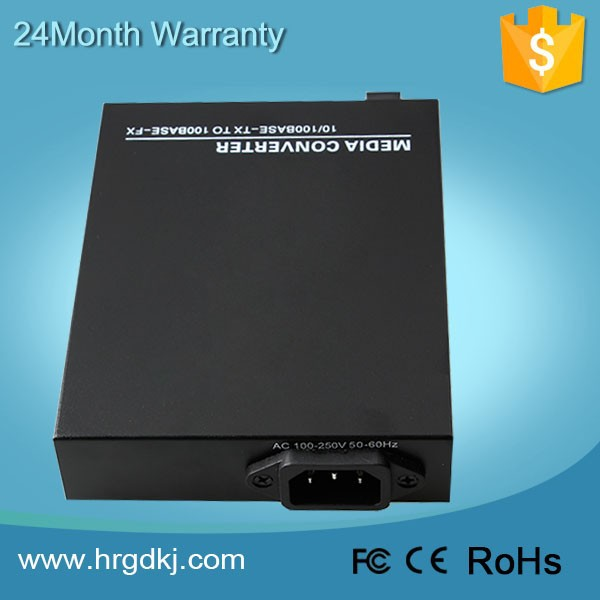 CCTV fiber transmission 10/100M ethernet 1310nm Internal optical media converter