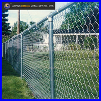 used PVC coated chain link mesh as fence for sale
