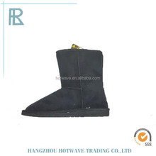 Elegant woman snow boots