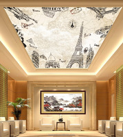 Economic Chinese Professional 3d PVC roof ceiling wallpaper designs
