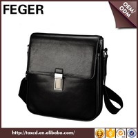 FEGER Cowhide Leather Custom Logo Menssenger Bag Brand
