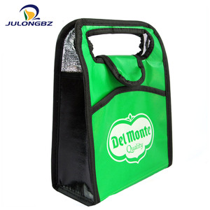 Fashion high quality thermal non-woven fabric bag, portable insulated lunch bag