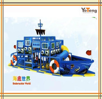 Special kids ship and boat used indoor playground equipment sale