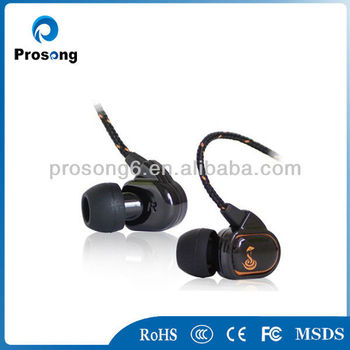 Audifonos inovation 2013 earphone high quality volume control braided wire earphone
