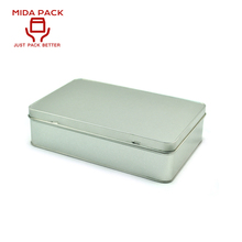 Sliver custom metal tin box for band-aid packaging