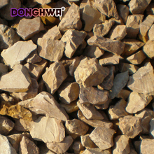 Brown color aggregate gravel for gardens Size 3-120mm