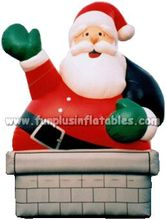 2015 gaint cartoon character Santa Claus inflatable advertising P4092