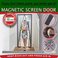 New Magic Mesh Magnetic Screen Door Improved as seen on TV