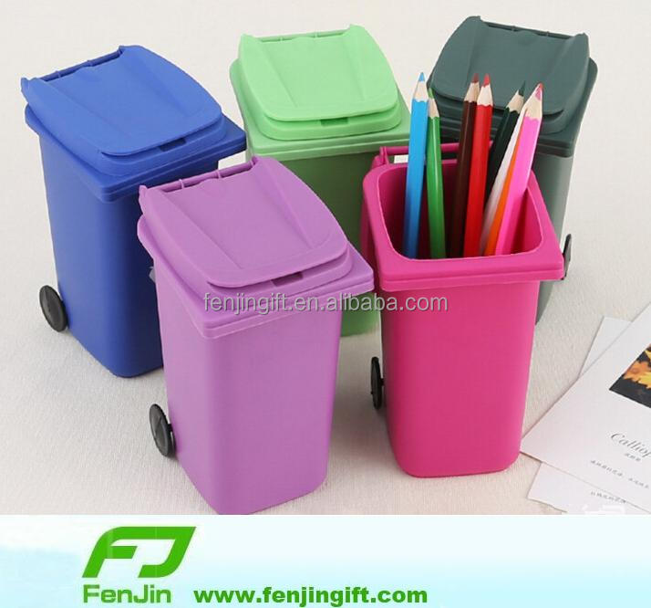 new style eco-friendly personalized trash can garbage bin pen holder