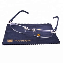FEROCE STOCK PROMOTIONAL rectangle mens optical spectacle frames rimless glasses frames rubber eyeglasses