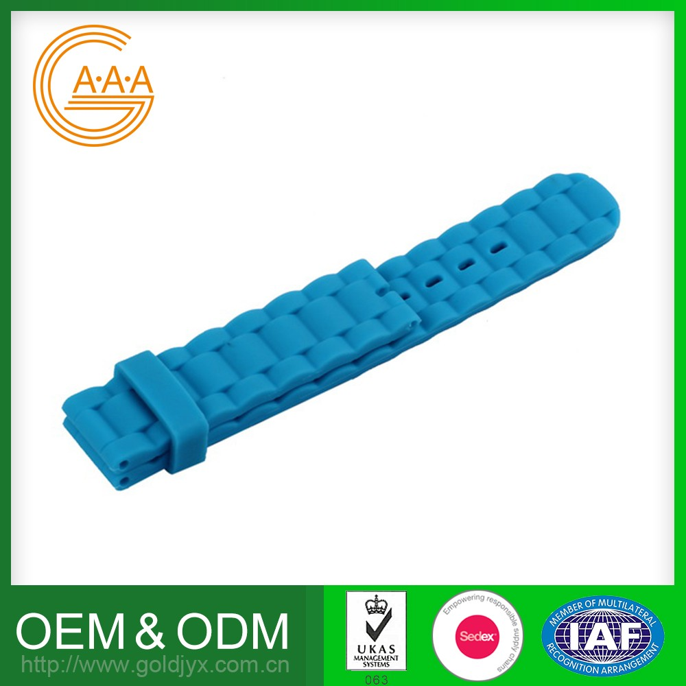 large factory oem design fashion silicone rubber watch strap