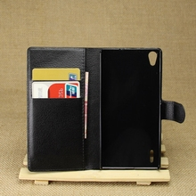 Newest latest view case leather case for huawei p7