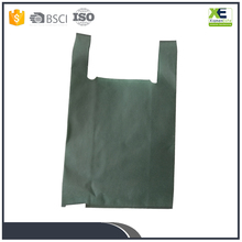 Reusable Custom Non Woven Eco-friendly Foldable T-shirt shopping bags grocery bag