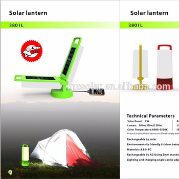 Solar energy CHL solar folding led camping lantern with mobile phone charge