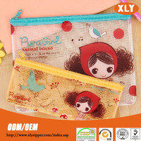 Fashion design print nylon zipper PVC bag, nylon zipper document bag, nylon zipper stationery bag