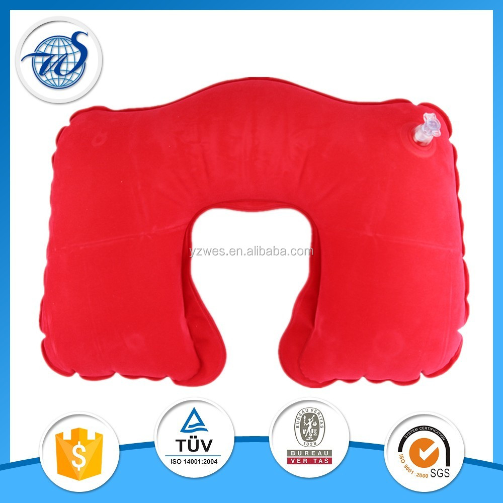Inflatable sleeping travel neck pillow with competitive price