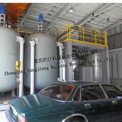 Used engine car oil pyrolysis recycling diesel oil plant