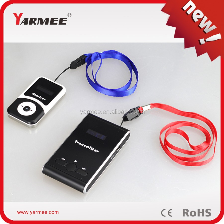 Good quality sound equipment system wireless tour guide system from YARMEE YT100