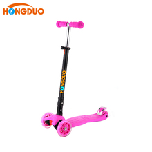 HONGDUO wholesale cheap kick 3 wheels PINK scooter for sale