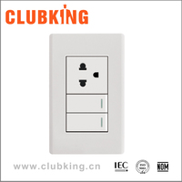 A2 Popular new design multifunction 15 amp switched socket