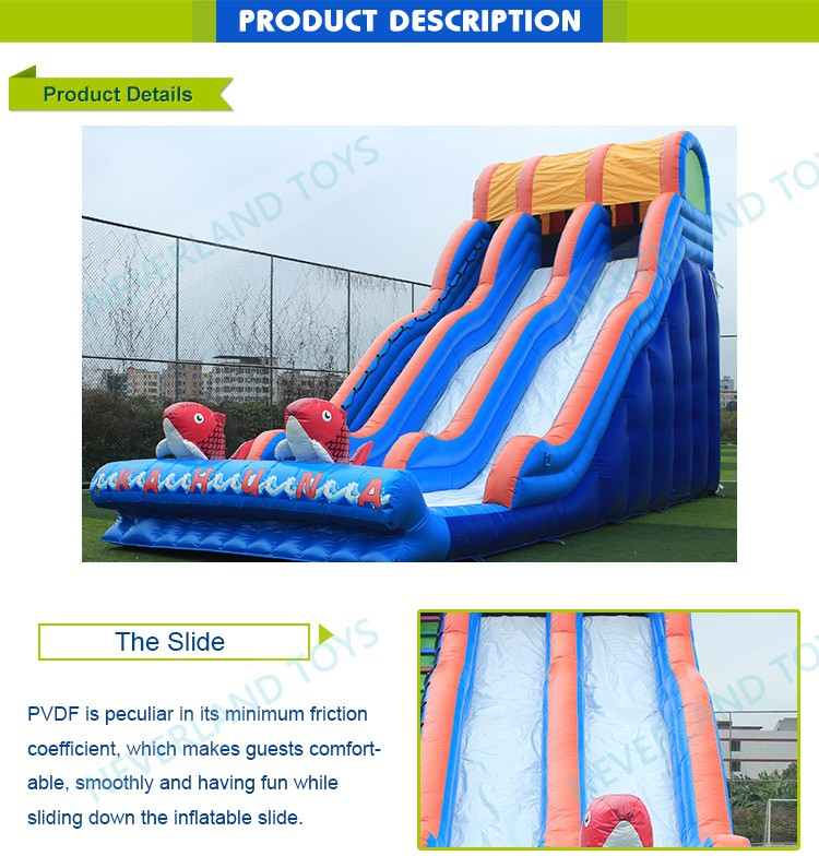 New design big kahuna inflatable slide giant inflatable slide for adult