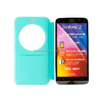 Superior quality flip leather phone case for asus zenfone 2 smart case cover for asus zenfone 2
