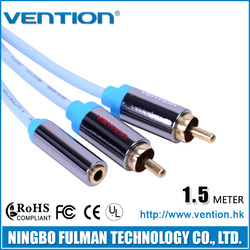 Vention Best Price 2 Male To 1 Female Audio Cable