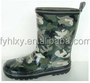 factory supply rain shoes kid military rain boot water boot