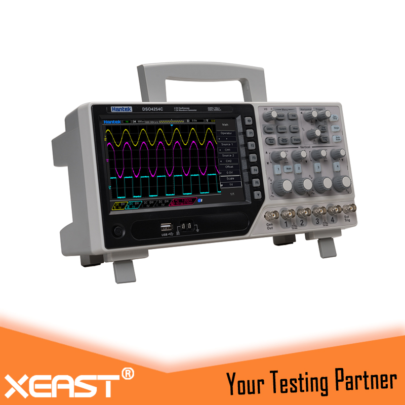 Hantek DSO4004C Series 4 channel Oscilloscope With 1CH Arbitary function Waveform Generator, Independent Keys of Oscilloscope