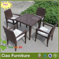 dining table outdoor restaurant rattan table and chair