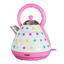 Automatic shut-off rapid boil water pink Electric Kettle