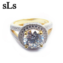 Latest Jewelry Original Design China Gold Supplier Factory Wholesale Directly Silver Jewelry Ring Plated Gold Wedding Jewelry