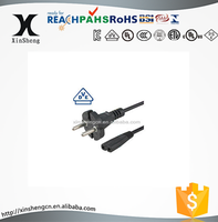 vde 2 pin 2.5a h03vvf-h2 2 x 0.75mm2 power cord with c7 connector
